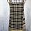 Thumbnail: Black, Tan & Grey Checkered/Stripes Reversible Bib Apron w/Adjustable Neck Strap