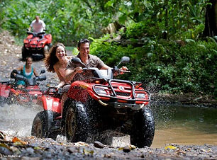 Experience the adventure of a tropical forest discovery expedition aboard a quad