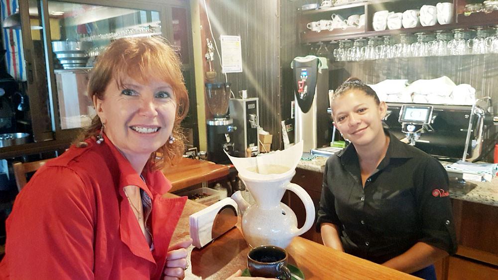 dégustation de café préparé dans la Vandola