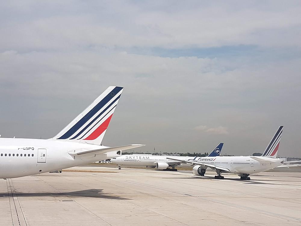 Avions de la compagnie Air France en partance pour le Costa Rica