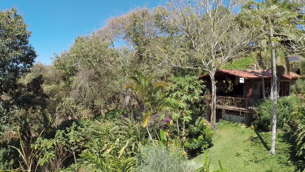 Vue de la terrasse de l'écolodge Tacacori