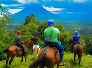 Horse ride at the Arenal volcano