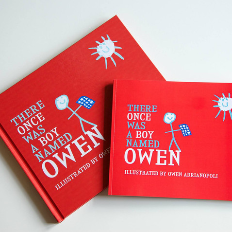 A collaboration with a talented 6 year old. With his two brothers in the writer's seat, Owen and his family were able to revisit his past works and create a cohesive book.