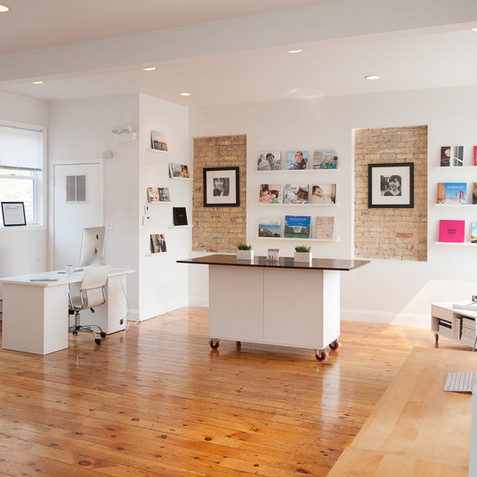 We work with clients located all over the world, but also love collaborating on projects right in our Wilmette studio.