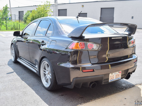 Mitsubishi Evo with LLumar Formula One Window Tint