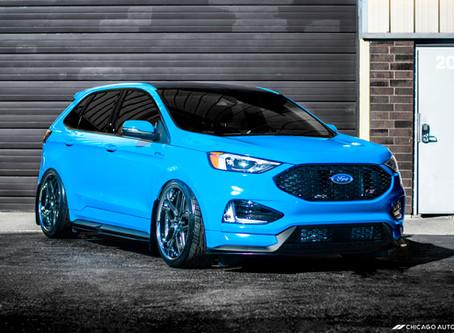 SEMA-Bound: Bloodtype Racing's 2019 Ford Edge ST | Avery Dennison Gloss Light Blue | FULL Vinyl