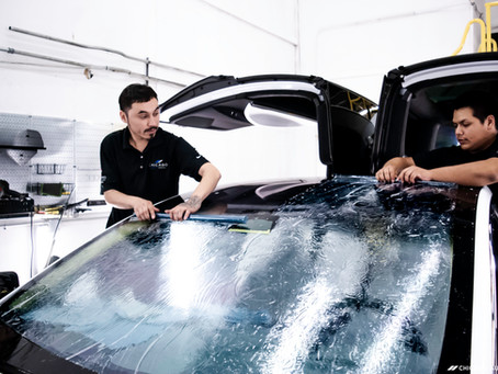 An Electrifying Challenge: Tinting A Tesla Model-X Windshield