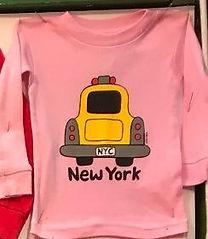 NYC Pink LS Baby Taxi Tee.jpg