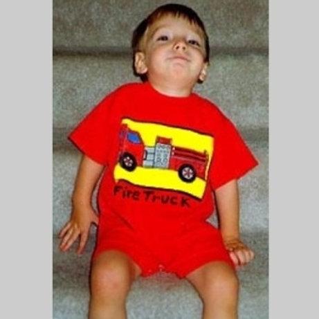 NYC Fire Truck SS Romper