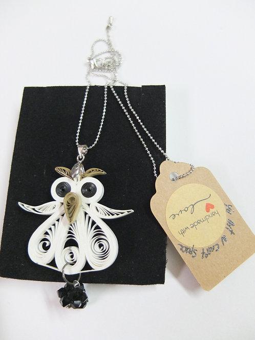 Cute White Owl Pendant