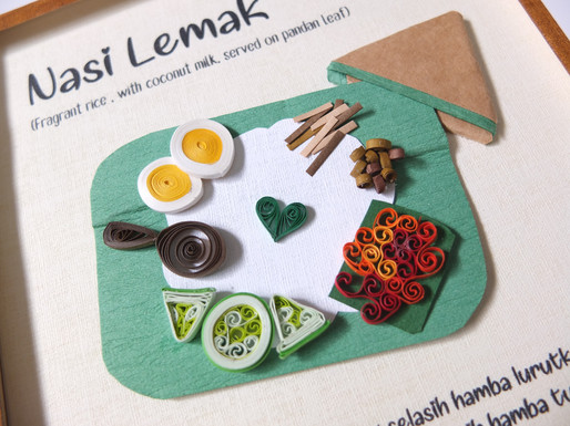 Malaysian Delicacy Quilling Paper Art