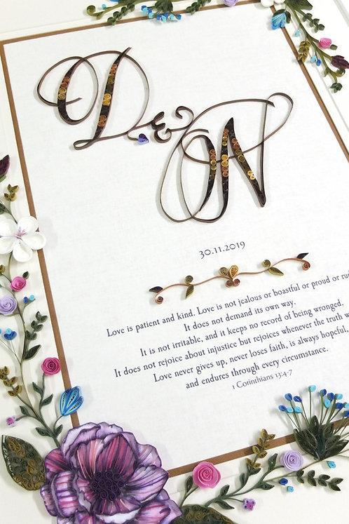 Elegant Lavender Gold Florals