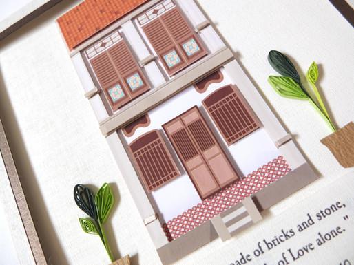 Quilling Malaysian Heritage Home