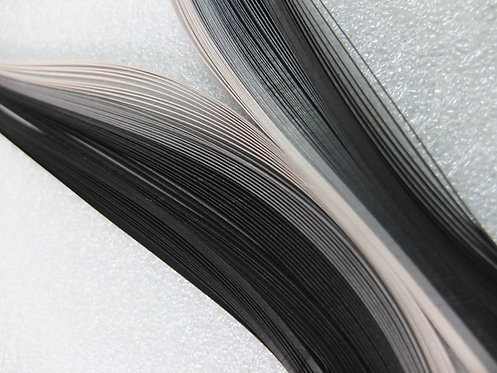 Quilling Paper - Black Grey Spectrum