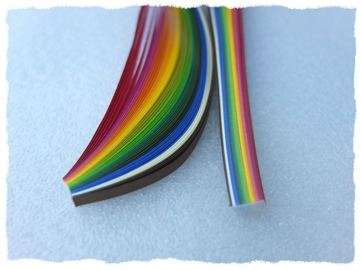 Rainbow Spectrum Quilling Papers