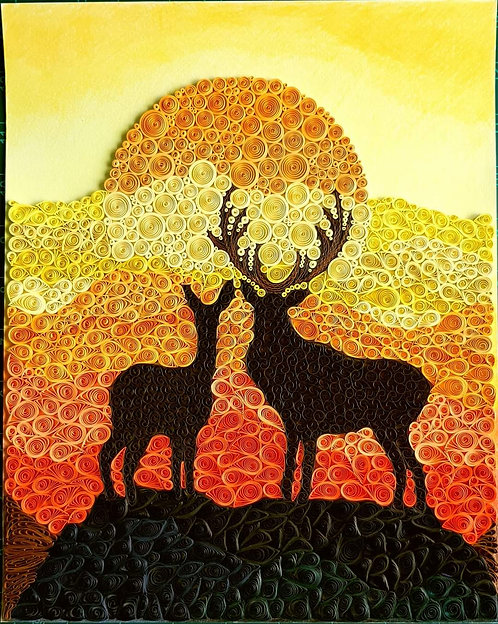 Nature - Deer at Sunset