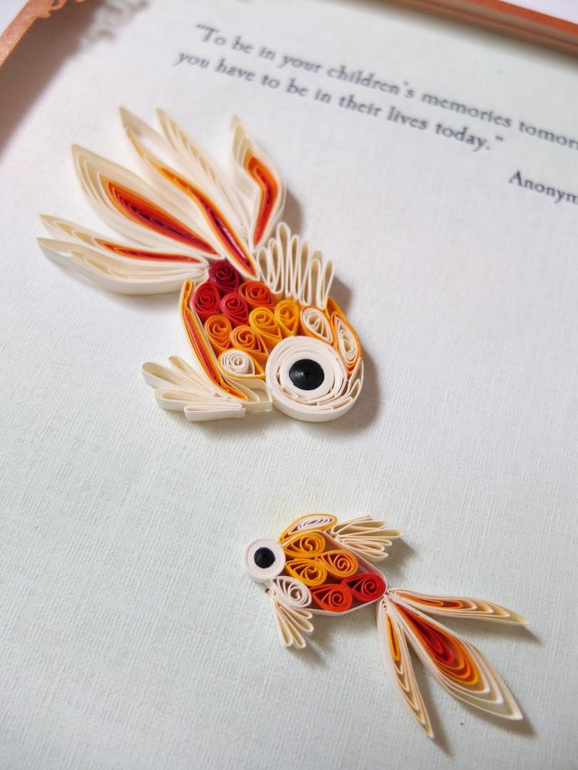 Goldfish Quilling Artpiece