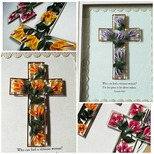 Floral Cross 01