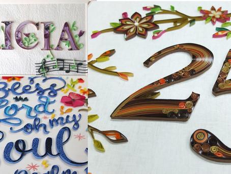 Typography Paper Art