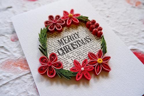 Christmas Wreathe Card