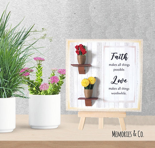 My Floral Pot Gift - Mini Standee