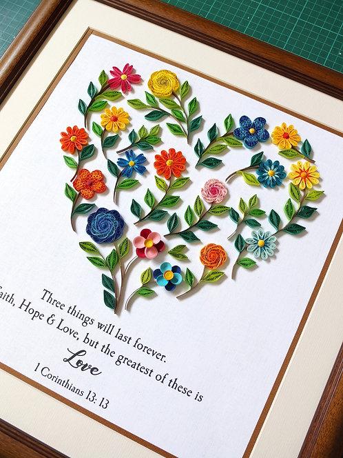 Heart Florals Montage 01