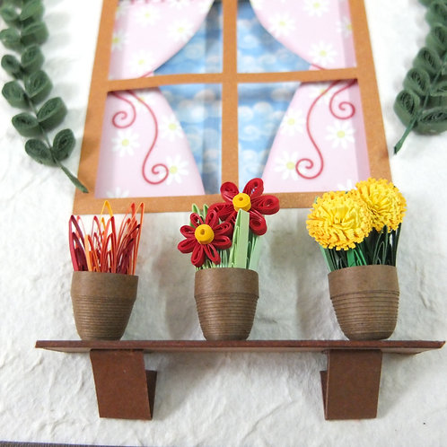 Floral Pot Window  - Home Sweet Home