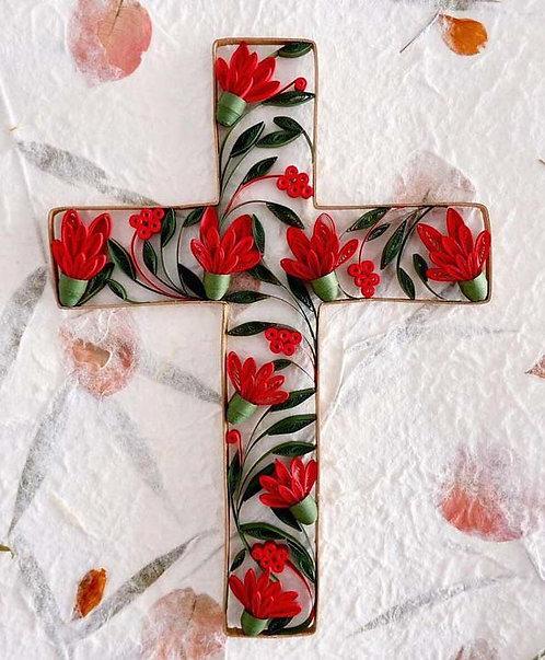 Floral Cross Elegance