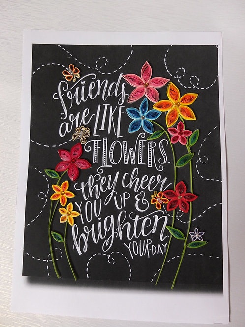 Friends and Flower Cheer