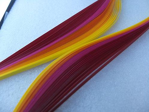 Quilling Paper - Red Orange Spectrum