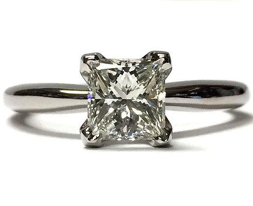 Princess Cut V-Prong Engagement Ring Mounting