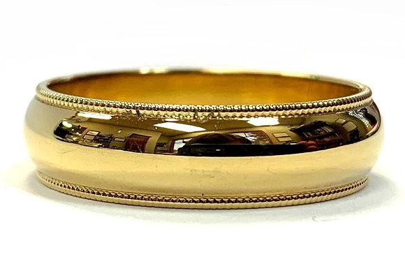 6mm Half Round Milgrain Wedding Ring