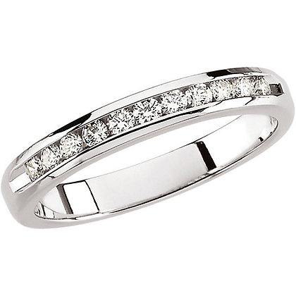 Channel Set 0.25 Carat Round Diamond Anniversary Band