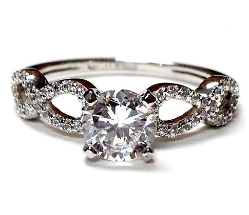 Open Pears Diamond Engagement Ring Mounting