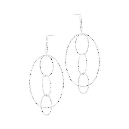 Interlocking Ovals Earrings
