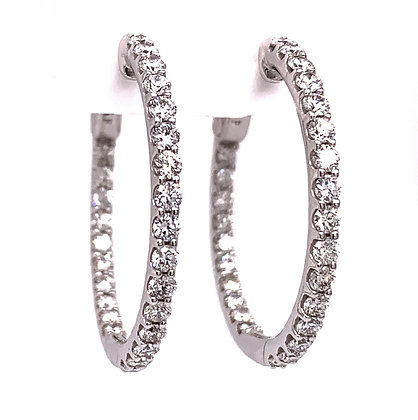 Inside / Outside Diamond Hoop Earrings