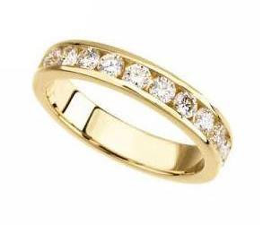 Channel Set 0.50 Carat Round Diamond Anniversary Band