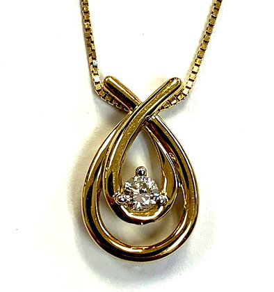 """Love's Embrace"" Diamond Pendant"