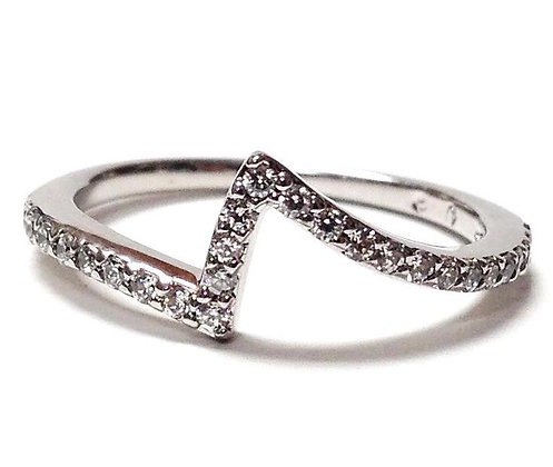 Shadow Bypass Style Diamond Wedding Ring