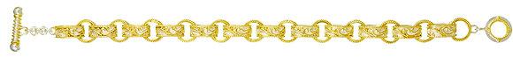 Narrow Scroll Link Bracelet