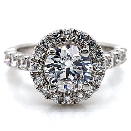 Halo Diamond Engagement Ring Mounting