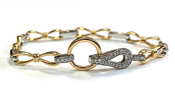 Diamond Alternating Link Bracelet