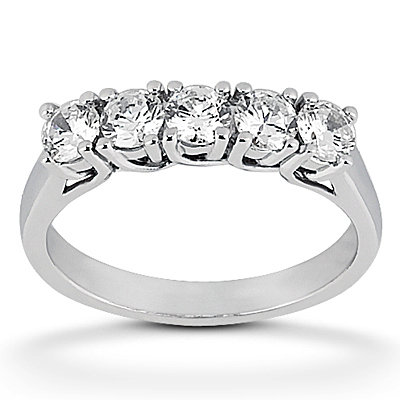 Straight Line Diamond Trellis Ring