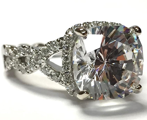 Open Weave Diamond Engagement Ring Mounting