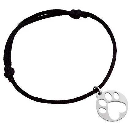 """Our Cause for Paws"" Paw Print Bracelet"