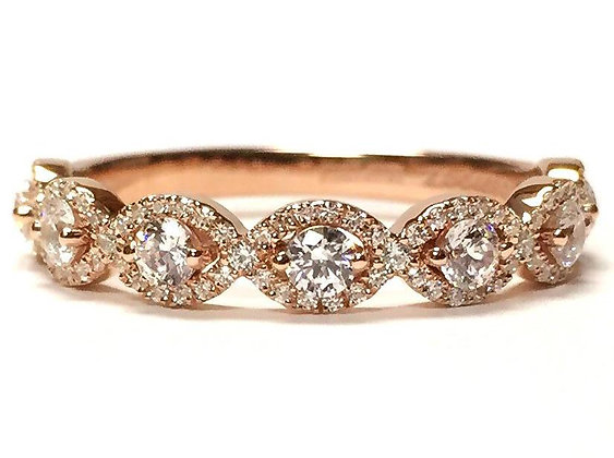 """Gaelle"" Scalloped Diamond Ring"