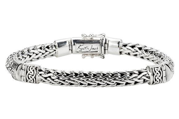 """Dragon Weave"" Hinged Bracelet"