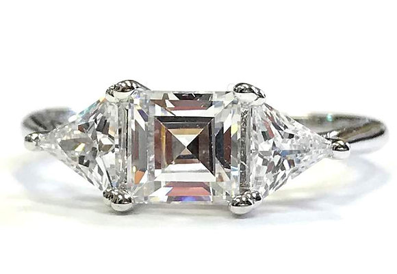 Trillion 3-Stone Engagement Ring Mounting