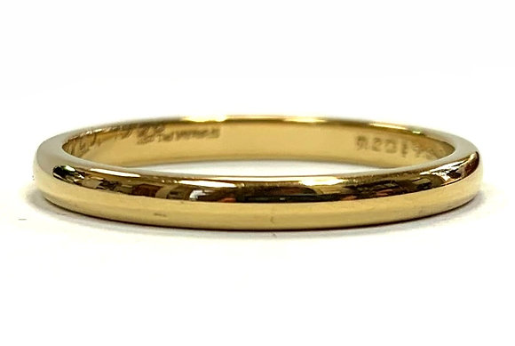 2mm Half Round Polished Wedding Ring