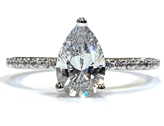 Pear Diamond Engagement Ring Mounting
